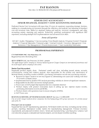 Senior Financial Analyst Sample Resume by General Accounting Resume Objective Click Here To Download This