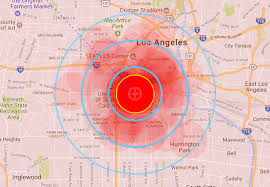 Los Angeles Afb Map by Faq Missilemap By Alex Wellerstein