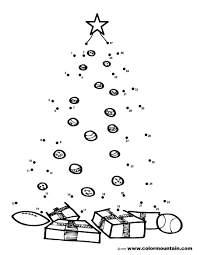 christmas tree activity dot to dot coloring create a printout or