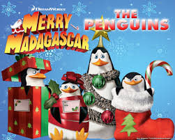 penguins of madagascar at christmas wallpaper christmas cartoons