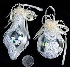 lace glass ornaments ornaments