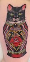 coloured russian matryoshka cat tattoo tattoos book 65 000