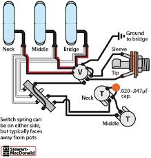 guitar wiring diagrams 3 pickups 1 volume tone wiring diagram