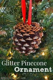 glitter pinecone ornament typically simple