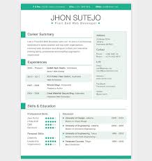 front and web developer free creative resume template free