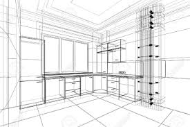 Kitchen Design Template Contemporary Kitchen Design Sketch Concept Layout Rough E Inside