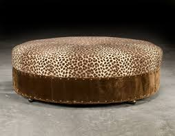large circular ottoman country style furniture luxury upholstered