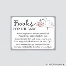 Books Instead Of Cards For Baby Shower Poem Baby Shower