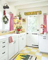 Christmas Kitchen Curtains by Red And White Checkered Kitchen Curtains Red Plaid Kitchen