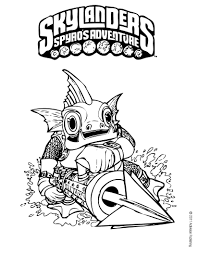 skylander printable coloring pages gill grunt coloring pages hellokids com