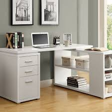Corner Office Desk Funiture White Office Furniture Ideas Using White Wooden Corner
