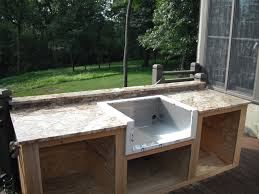 Outdoor Kitchen Ideas Pictures Lighting Flooring Diy Outdoor Kitchen Ideas Wood Countertops Red