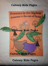 Palm Sunday Crafts For Kids - calvary kids pages crafts and activity pages
