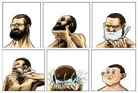 Baby Face Meme - baby face beard shaving comic parodies know your meme