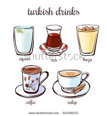 Salep Hd set illustrations turkish drinks stock vector hd royalty