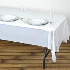 thick plastic table cover 54 x108 wholesale white 10mil thick disposable waterproof plastic
