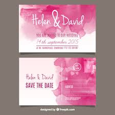 post wedding invitations watercolor wedding invitation in post card style vector free