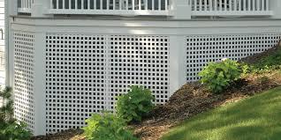 Home Designer Pro Lattice Porch Skirting With Dimensions White Square Privacy Plastic