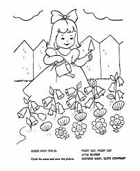 jack nimble kids rhymes colour free colouring pages