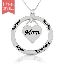 Mom Necklace With Kids Names Kids Names Necklace The Necklace