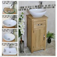 Solid Oak Bathroom Vanity Unit Solid Oak Bathroom Cabinet Compact Vanity Sink Small Bathroom