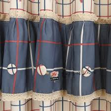 Navy And Red Shower Curtain Plaid Pattern Navy And Red Country Curtains