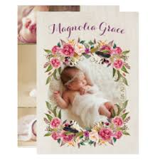 baby girl announcements baby girl birth invitations announcements zazzle