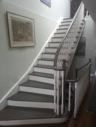 geometric stair runner modern staircase house ideas pinterest