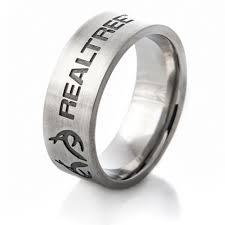 realtree wedding bands realtree antler logo titanium ring 259 free shipping