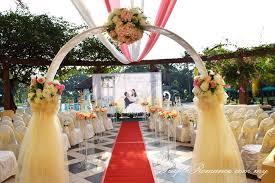 wedding arch kl outdoor ballroom wedding decoration at kelab golf sultan abdul