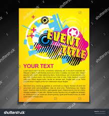 vector event brochure flyer template poster stock vector 193225895