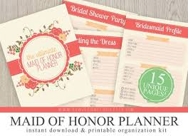 of honor organizer ultimate of honor wedding planner organizer kit instant