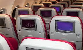 airbus a320 sieges sièges de classe touriste de qatar airways airbus a320 photo stock