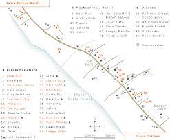 map of santa santa teresa costa rica map with hotels in santa teresa