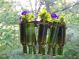 amazing ideas for using wine bottles in the garden