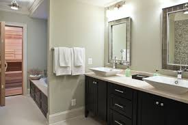 beautiful bathroom what color are the walls are the cabinets