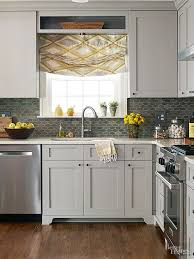 small kitchen grey cabinets make a small kitchen look larger with these clever design