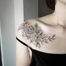 Tattoo Ideas On Shoulder Amazing Hummingbird And Flower Tattoos On Shoulder For Women
