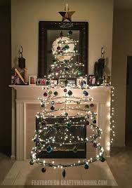 floating ornaments floating cardboard tree