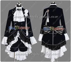Halloween Butler Costume Black Butler Cosplay Ciel Phantomhive Dark Blue Costume Cosplay
