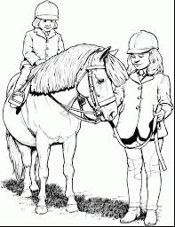 wonderful horse coloring pages for girls with printable horse