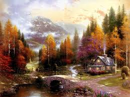 thomas kinkade lighted pictures can you find the serial killers in these thomas kinkade paintings