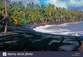 black sand beach hawaii kalapana s famous black sand beach hawaii seen in the 1980s it