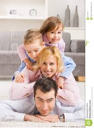 Family Home Happy Family At Home Royalty Free Stock Photography Image 9797197