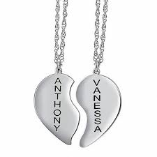 Personalized Name Pendant Sterling Silver Couple U0027s Heart Name Pendant 2 Names