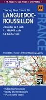 Italy Road Map by Road Map Languedoc Roussillon Aa Touring Map France 10 Amazon