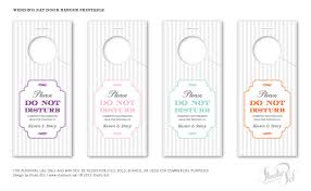 wedding door hanger template studio sol invitations and design dubai friday freebie wedding