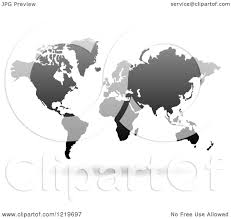 Free Vector World Map by Clipart Of A Floating Black World Map Royalty Free Vector