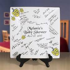 bridal shower autograph plate 12 inch square bridal or baby shower gift idea signature plate