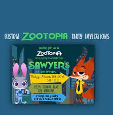 graphic design birthday invitations zootopia birthday invitation zootopia party 5x7 invitation
